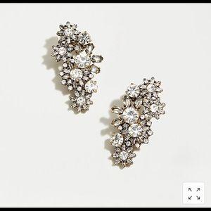 NWT J. Crew mini snowflake climber earrings